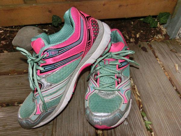 Damen Laufschuhe Sport Fitness Jogging Schuhe 38 grün pink Tolle Optik