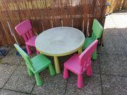 IKEA Mammut Sitzgruppe grün pink