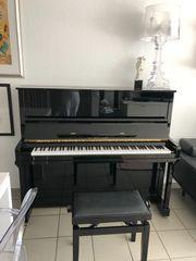 Klavier schwarz poliert