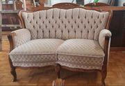 Sofa und 4 Sessel