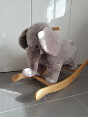 Flauschiger Schaukel-Elefant Top Zustand