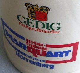 Glas, Porzellan antiquarisch - GEDIG 0 5 l Bierkrug