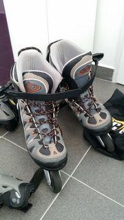 K2 Inliner Skates mit Protektoren