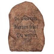 Trauerdekoration Gedenkplatte mit Spruch Trauerstein