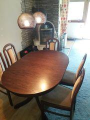 Ovaler Esstisch inkl 6 Stühle
