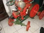 Lorenz Standmotor mit Fahrgestell
