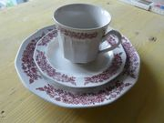 Braunes Kaffee-Geschirrset 15 tlg von