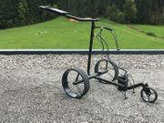 JuCad Carbon Elektrischer Golftrolley schwarz
