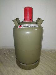 Gasflasche grau Eigentums- Tauschflasche 11