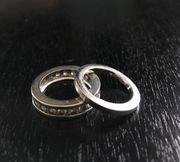 2x Ringe silber 925