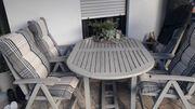 Gartenmöbel aus Holz inkl Sitzkissen
