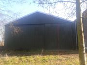 Satteldachhalle Stahlkonstruktion Stahlhalle Lagerhalle Produktionshalle