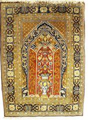 Orientteppich Ghom mit Seide 155x110