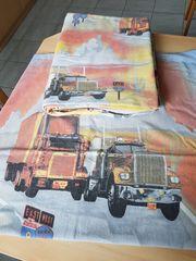 Kinderbettwäsche Truck LKW Lastwagen 135