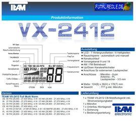 CB, Amateurfunk - Team VX-2412 Multinorm CB-Funkgerät 12