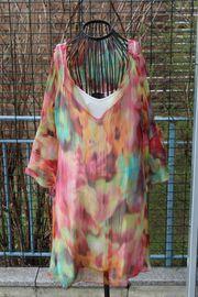 neuwertiges buntes Kleid mit Unterrock