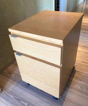 IKEA Galant Schreibtisch Rollcontainer Birke