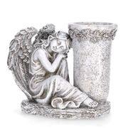 Grabschmuck Vase mit schlafenden Engel