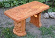 Betonformen für Gartenmöbel Gartenbank Sitzgruppe