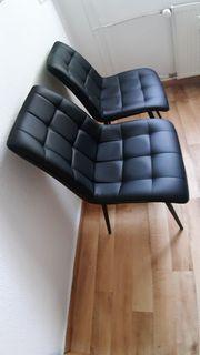 2 Neue bequeme Schwarze Esszimmerstühle