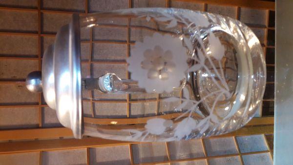 Bierkrug Glas mit Zinndeckel Bierseidel