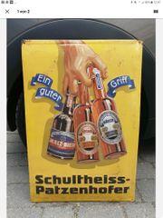 Werbeschild Schultheiss-Patzenhofer Sehr Alt