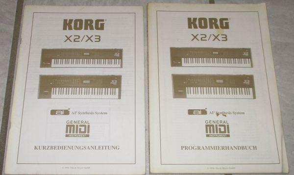 KORG X2 X3 Kurzbedienungsanleitung Programmierhandbuch