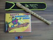 Blockflöte Barock Voggenreiter mit Buch