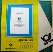 Briefmarken Kalender mit Ersttagsblättern