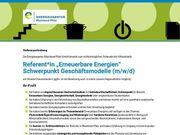 Referent Erneuerbare Energien Schwerpunkt Geschäftsmodelle