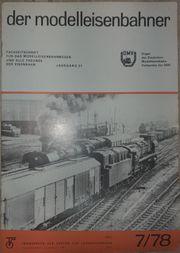 Modelleisenbahner 7 1978 bis 8