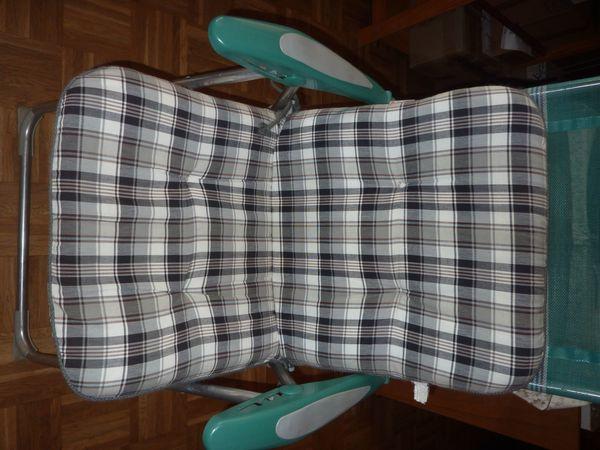 Garten-Stuhlauflage kürzere Form dick und