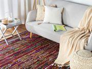 Teppich bunt-schwarz 140 x 200