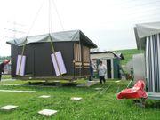 Wohnwagen Caravan auf Stellplatz im