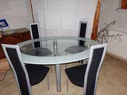 Esstisch aus Glas 4 Stühle