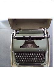 Olympia Schreibmaschine Koffer Grün