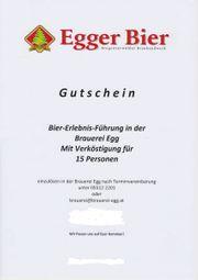 Gutschein Egger Bier