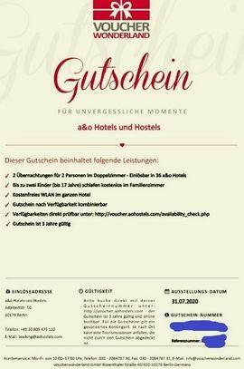 Tickets / Eintrittskarten - A O Hotel Gutschein 3