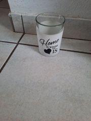 Windlicht für Teelichter Glas weiß