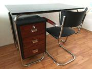 Luxuriöser Schreibtisch und Halabala-Stuhl Wunderschönes