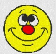 Vorlage für Ministeck Smiley1 40x40cm