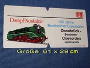 Zuglaufschild Bentheimer Eisenbahn