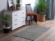 Outdoor Teppich schwarz weiß 80