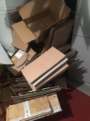 25 Kartons verschiedene Größen gefaltet