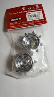 Antriebsräder für Kyosho Pistenbully Chrom