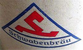 Glas, Porzellan antiquarisch - Schwabenbräu Bierkrug