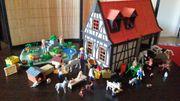 Playmobil Bauernhof mit Bauernhaus Retro