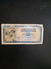 Jugoslavija 50 Dinara Geldschein
