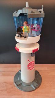 Playmobil Flughafen Tower mit Blinklicht
