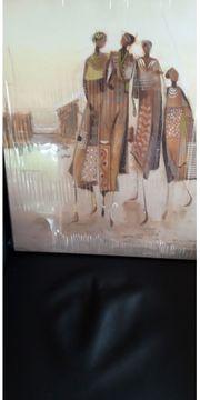 Kunstdruck auf Leinwand mit Holzrahmen
